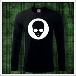 Pánske 180 g. dlhorukávové tričko so svietiacou potlačou Alien
