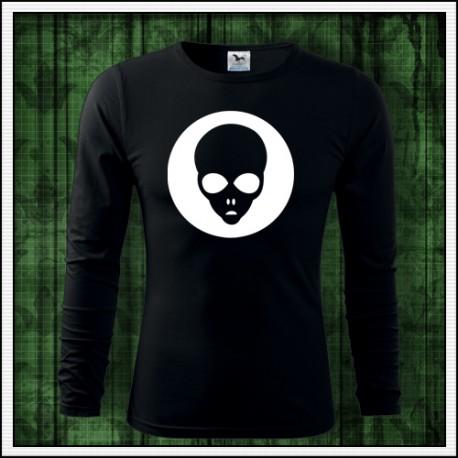 Pánske 160g. dlhorukávové fosforové tričko Alien
