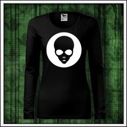 Dámske dlhorukávové svietiace tričko Alien