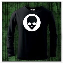 Detské 160g. dlhorukávové svietiace tričko Alien