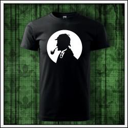 Unisex svietiace tričko Sherlock Holmes