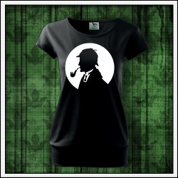 Dámske svietiace tričko s patentom Sherlock Holmes