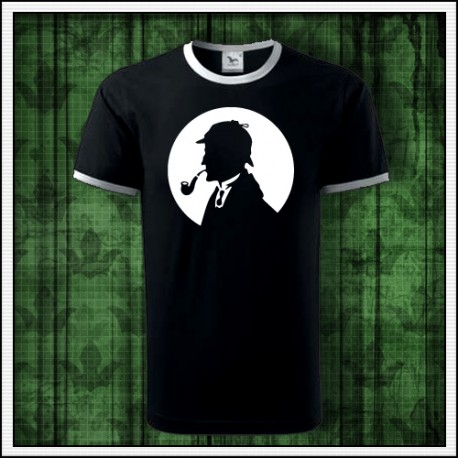 Unisex dvojfarebné svietiace tričko Sherlock Holmes