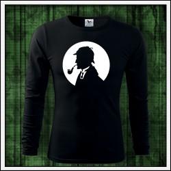 Pánske 160g. dlhorukávové svietiace tričko Sherlock Holmes