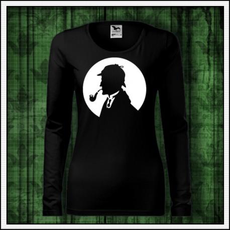 fosforová potlač na tričku Sherlock Holmes