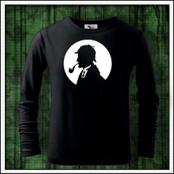 Detské dlhorukávové svietiace tričko Sherlock Holmes