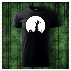 Unisex svietiace tričko Zombie ruka