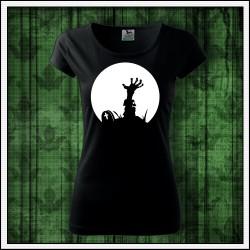 Dámske svietiace tričko Zombie ruka