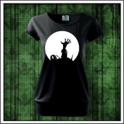 Dámske svietiace tričko s patentom Zombie ruka