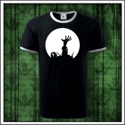 Unisex dvojfarebné svietiace tričko Zombie ruka