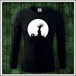 Pánske 160g. dlhorukávové svietiace tričko Zombie ruka