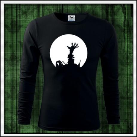 Fosforové tričko Zombie ruka vytrčajúca z hrobu