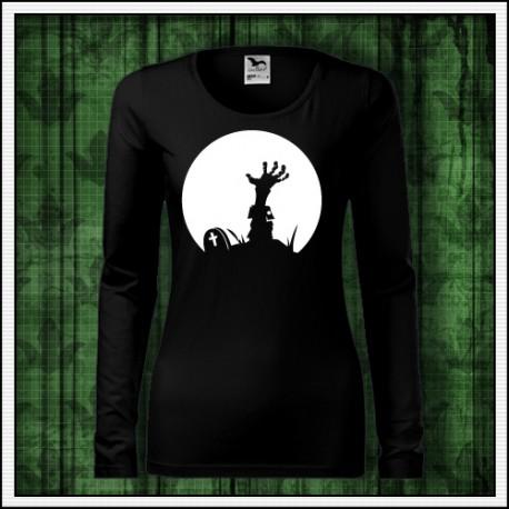 Dámske dlhorukávové svietiace tričko Zombie ruka