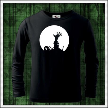 Detské svietiace tričko s dlhým rukávom Zombie ruka