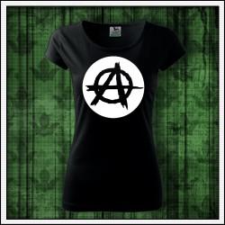 Dámske punk tričko fosforová potlač Anarchy