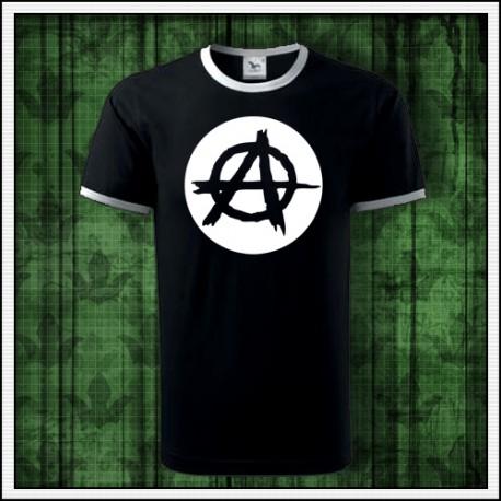 Unisex dvojfarebné svietiace tričko Anarchia