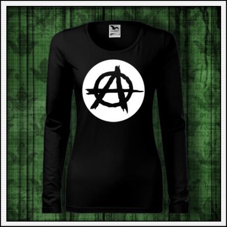 Dámske dlhorukávové tričko so svietiacou potlačou Anarchy