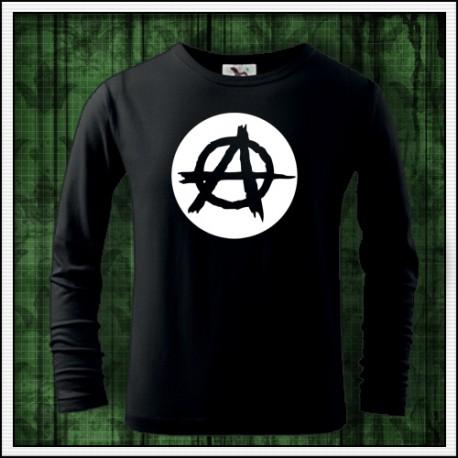 Detské 160g. dlhorukávové fosforové tričká Anarchy