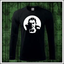 Pánske 180 g. dlhorukávové svietiace tričko Upír