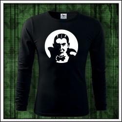 Pánske 160g. dlhorukávové svietiace tričko Upír
