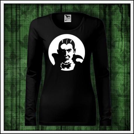 Dámske dlhorukávové fosforové tričko Upír