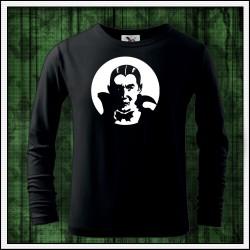 Detské 160g. dlhorukávové fosforové tričko Upír