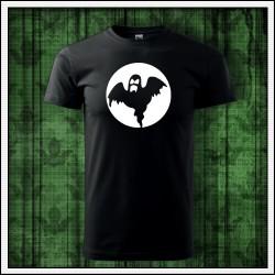 Unisex tričko s fosforovu potlačou Duch
