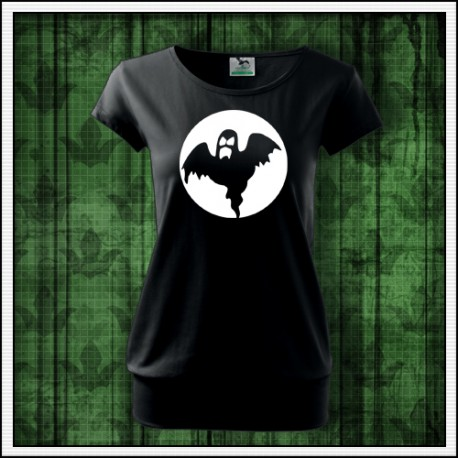tričko svietiace v tme duch