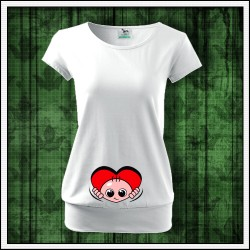 oblečenie pre tehotné Vykúkajúce dieťa zo srdca