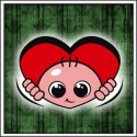 Vykúkajúce dieťa (srdce)