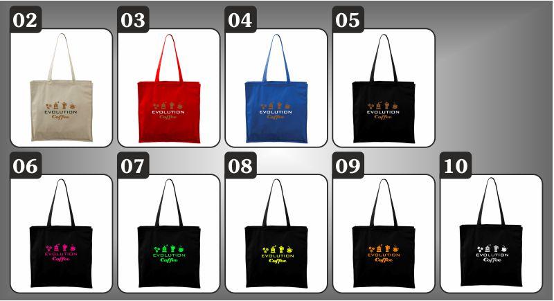 farebné tašky Evolúcia kávy