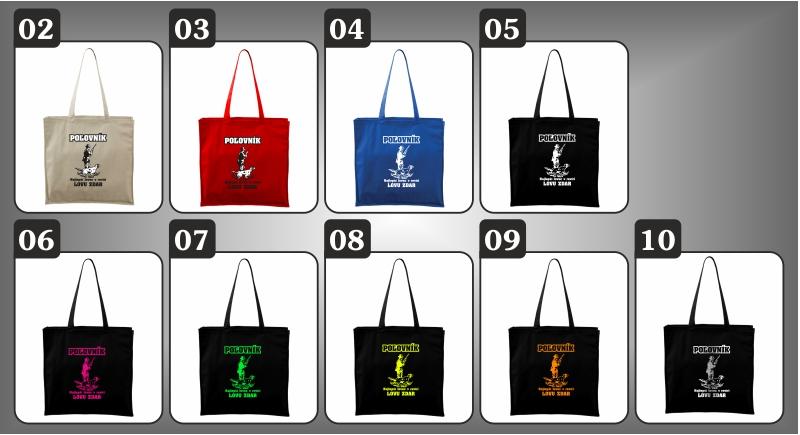 farebné tašky s poľovníckym motívom