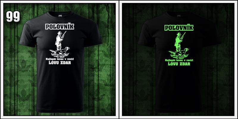 pánske svietiace tričko pre poľovníka