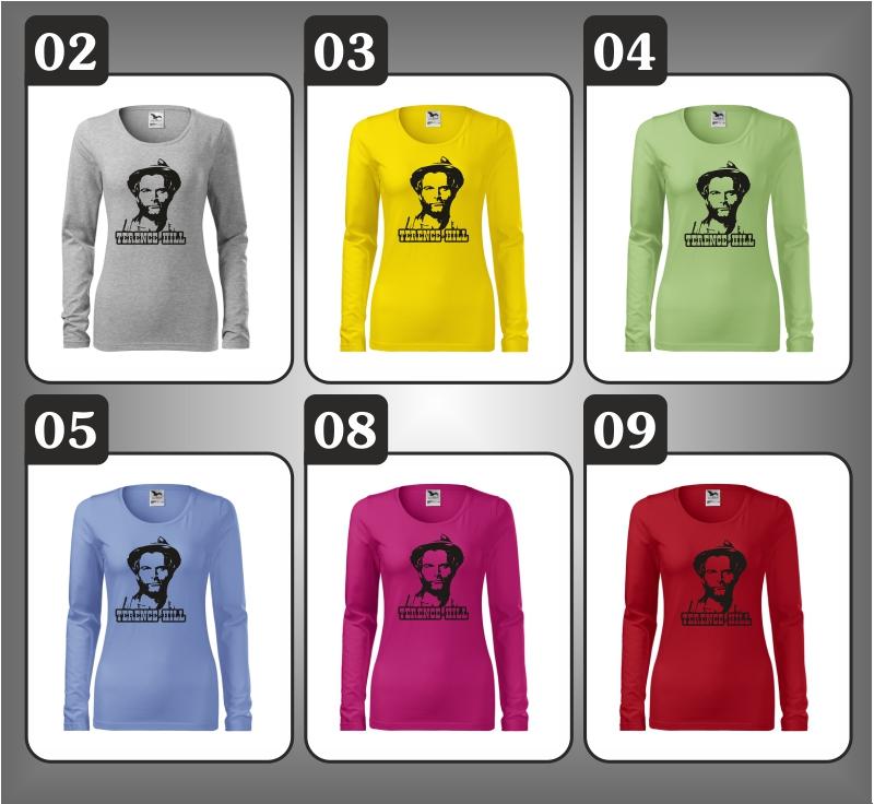 dámske retro tričko s dlhým rukávom Terence Hill