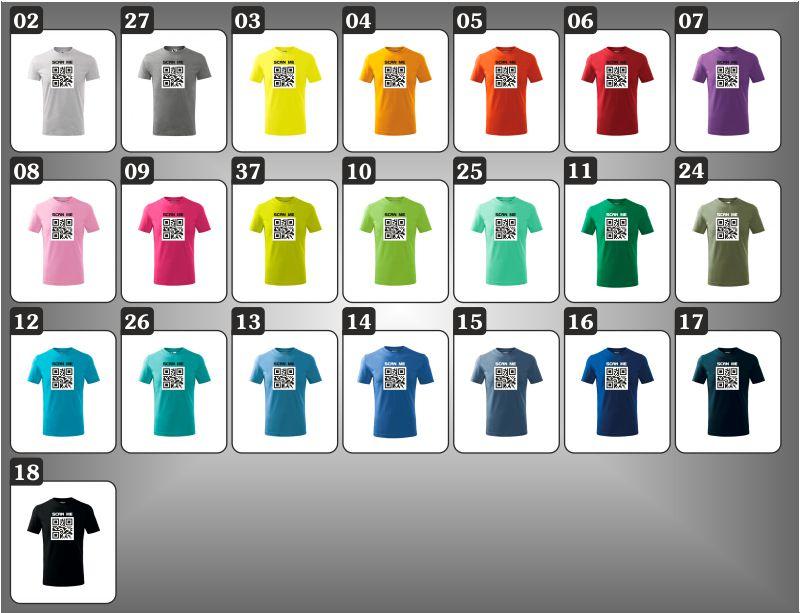 detské farebné vtipné tričká qr kod, vtipne darceky pre deti